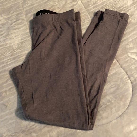 Aeropostale Large Charcoal Gray Leggings